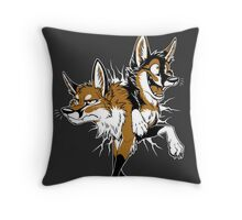 STUCK Foxes (red) Throw Pillow