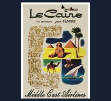 """""""MIDDLE EAST AIRLINES"""" Travel Advertising Print One Piece - Long Sleeve"""