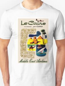 """MIDDLE EAST AIRLINES"" Travel Advertising Print Unisex T-Shirt"