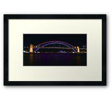 Coloured Bridge Framed Print