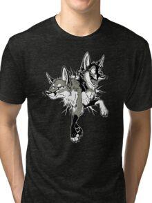 STUCK Foxes (warm grey) Tri-blend T-Shirt