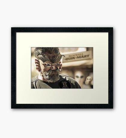 Alien Biker Framed Print