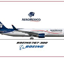 Airlines Colletion Boeing 767-300 Aeromexico by wilsoncara
