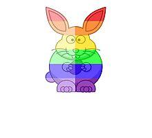 Love U Tees Funny Rainbow Animals Bunny Rabbit LGBT Pride Week Swag, Unique Rainbow Gifts Photographic Print