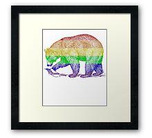 Love U Tees Funny Rainbow Animals LGBT Bear Pride Week Swag, Unique Rainbow Gifts Framed Print
