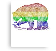 Love U Tees Funny Rainbow Animals LGBT Bear Pride Week Swag, Unique Rainbow Gifts Canvas Print