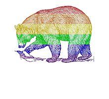 Love U Tees Funny Rainbow Animals LGBT Bear Pride Week Swag, Unique Rainbow Gifts Photographic Print