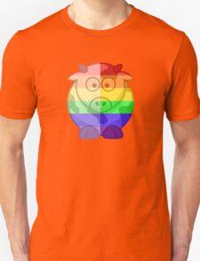 Love U Tees Funny Rainbow Animals Moo Cow LGBT Pride Week Swag, Unique Rainbow Gifts Unisex T-Shirt