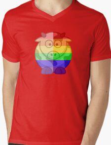 Love U Tees Funny Rainbow Animals Moo Cow LGBT Pride Week Swag, Unique Rainbow Gifts Mens V-Neck T-Shirt