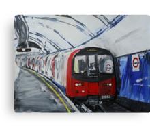 London Underground Northern Line Subway Train Acrylics Canvas Print
