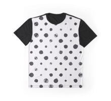 Black messy polka dot on white - pattern Graphic T-Shirt