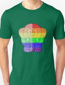 Love U Tees Funny Rainbow Animals Elephant LGBT Pride Week Swag, Unique Rainbow Gifts Unisex T-Shirt