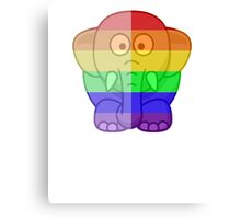 Love U Tees Funny Rainbow Animals Elephant LGBT Pride Week Swag, Unique Rainbow Gifts Canvas Print