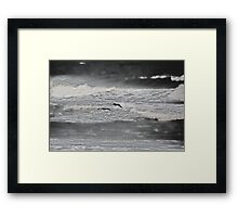 Low Flying Pelicans Framed Print