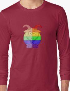 Love U Tees Funny Rainbow Animals Goat LGBT Pride Week Swag, Unique Rainbow Gifts Long Sleeve T-Shirt