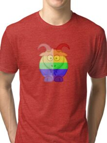 Love U Tees Funny Rainbow Animals Goat LGBT Pride Week Swag, Unique Rainbow Gifts Tri-blend T-Shirt
