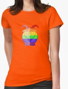 Love U Tees Funny Rainbow Animals Goat LGBT Pride Week Swag, Unique Rainbow Gifts Womens Fitted T-Shirt