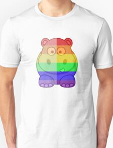 Love U Tees Funny Rainbow Animals Hippo LGBT Pride Week Swag, Unique Rainbow Gifts Unisex T-Shirt