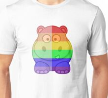 Love U Tees Funny Rainbow Animals Hippo LGBT Pride Week Swag, Unique Rainbow Gifts Unisex T-Shirt
