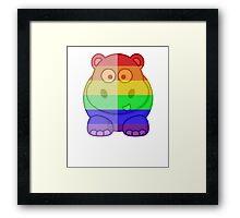 Love U Tees Funny Rainbow Animals Hippo LGBT Pride Week Swag, Unique Rainbow Gifts Framed Print