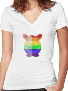 Love U Tees Funny Rainbow Horse Animals LGBT Pride Week Swag, Unique Rainbow Gifts Women's Fitted V-Neck T-Shirt