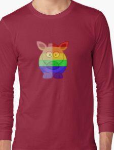 Love U Tees Funny Rainbow Horse Animals LGBT Pride Week Swag, Unique Rainbow Gifts Long Sleeve T-Shirt