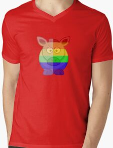 Love U Tees Funny Rainbow Horse Animals LGBT Pride Week Swag, Unique Rainbow Gifts Mens V-Neck T-Shirt