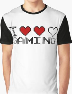 I Heart Gaming Quote Graphic T-Shirt