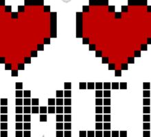 I Heart Gaming Quote Sticker