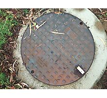 ACO Sewer Manhole Cover Photographic Print