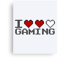 I Heart Gaming Quote Canvas Print