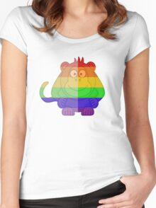 Love U Tees Funny Rainbow Animals monkey LGBT Pride Week Swag, Unique Rainbow Gifts Women's Fitted Scoop T-Shirt