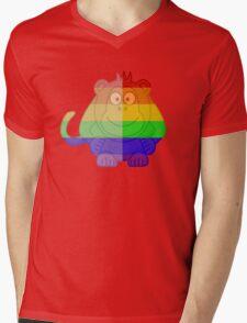 Love U Tees Funny Rainbow Animals monkey LGBT Pride Week Swag, Unique Rainbow Gifts Mens V-Neck T-Shirt
