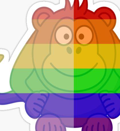 Love U Tees Funny Rainbow Animals monkey LGBT Pride Week Swag, Unique Rainbow Gifts Sticker