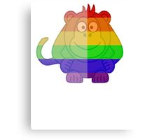 Love U Tees Funny Rainbow Animals monkey LGBT Pride Week Swag, Unique Rainbow Gifts Canvas Print