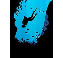 Scuba Diving T Shirt Photographic Print