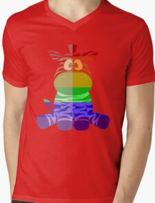Love U Tees Funny Rainbow Animals zebra LGBT Pride Week Swag, Unique Rainbow Gifts Mens V-Neck T-Shirt
