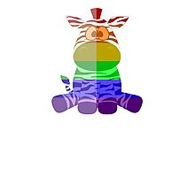 Love U Tees Funny Rainbow Animals zebra LGBT Pride Week Swag, Unique Rainbow Gifts Photographic Print