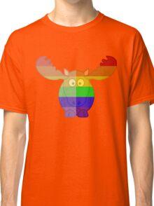 Love U Tees Funny Rainbow Animals Moose LGBT Pride Week Swag, Unique Rainbow Gifts Classic T-Shirt