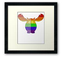 Love U Tees Funny Rainbow Animals Moose LGBT Pride Week Swag, Unique Rainbow Gifts Framed Print