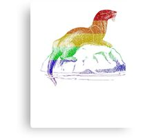 Love U Tees Funny Rainbow Animals otter LGBT Pride Week Swag, Unique Rainbow Gifts Canvas Print