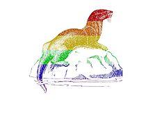 Love U Tees Funny Rainbow Animals otter LGBT Pride Week Swag, Unique Rainbow Gifts Photographic Print