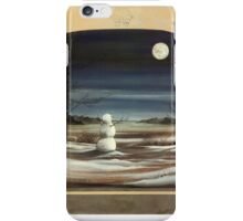 Snow Man in The Moon with Border iPhone Case/Skin
