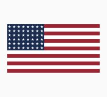 AMERICAN, Stars & Stripes, US Flag, WAR FLAG, 48 stars. Used 47 years, July 4, 1912, to July 3, 1959. Kids Tee