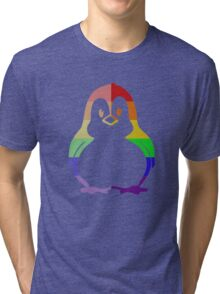 Love U Tees Funny Rainbow Animals Penguin, Bird LGBT Pride Week Swag, Unique Rainbow Gifts Tri-blend T-Shirt