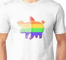 Love U Tees Funny Rainbow Animals Pig LGBT Pride Week Swag, Unique Rainbow Gifts Unisex T-Shirt
