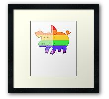 Love U Tees Funny Rainbow Animals Pig LGBT Pride Week Swag, Unique Rainbow Gifts Framed Print