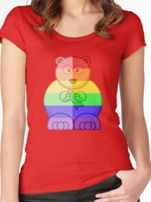 Love U Tees Funny Rainbow Animals Polar Bear LGBT Pride Week Swag, Unique Rainbow Gifts Women's Fitted Scoop T-Shirt