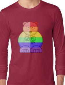 Love U Tees Funny Rainbow Animals Polar Bear LGBT Pride Week Swag, Unique Rainbow Gifts Long Sleeve T-Shirt