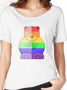 Love U Tees Funny Rainbow Animals Polar Bear LGBT Pride Week Swag, Unique Rainbow Gifts Women's Relaxed Fit T-Shirt